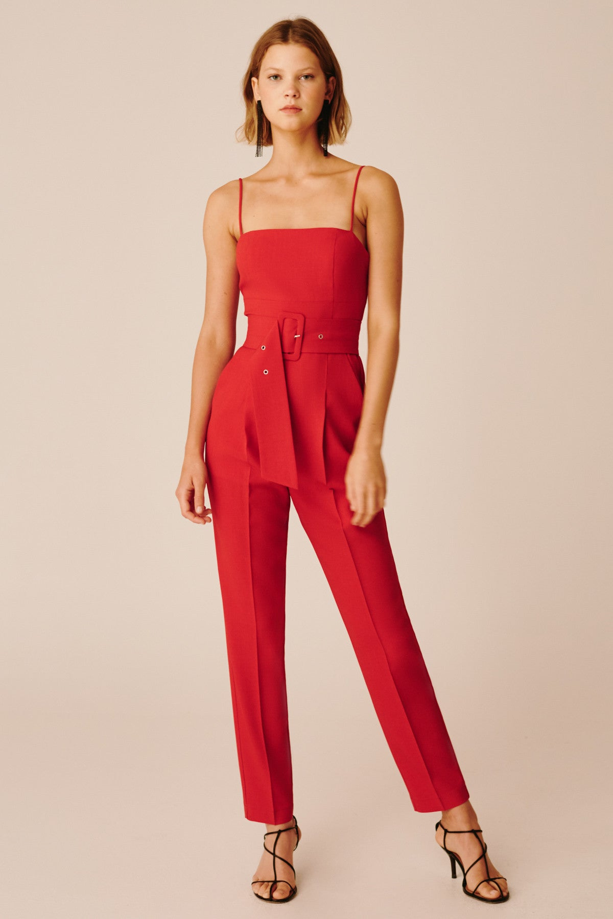 AS LONG AS JUMPSUIT red