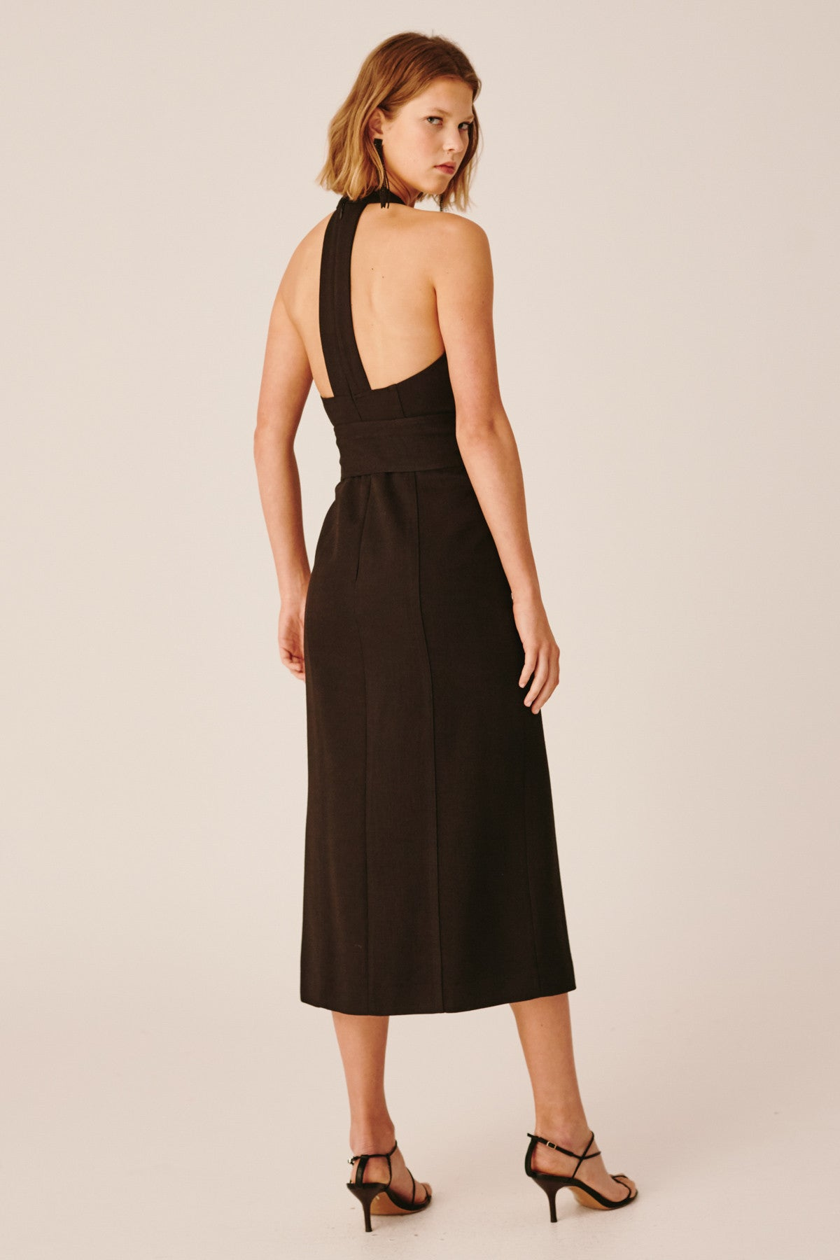 COLLISIONS MIDI DRESS black