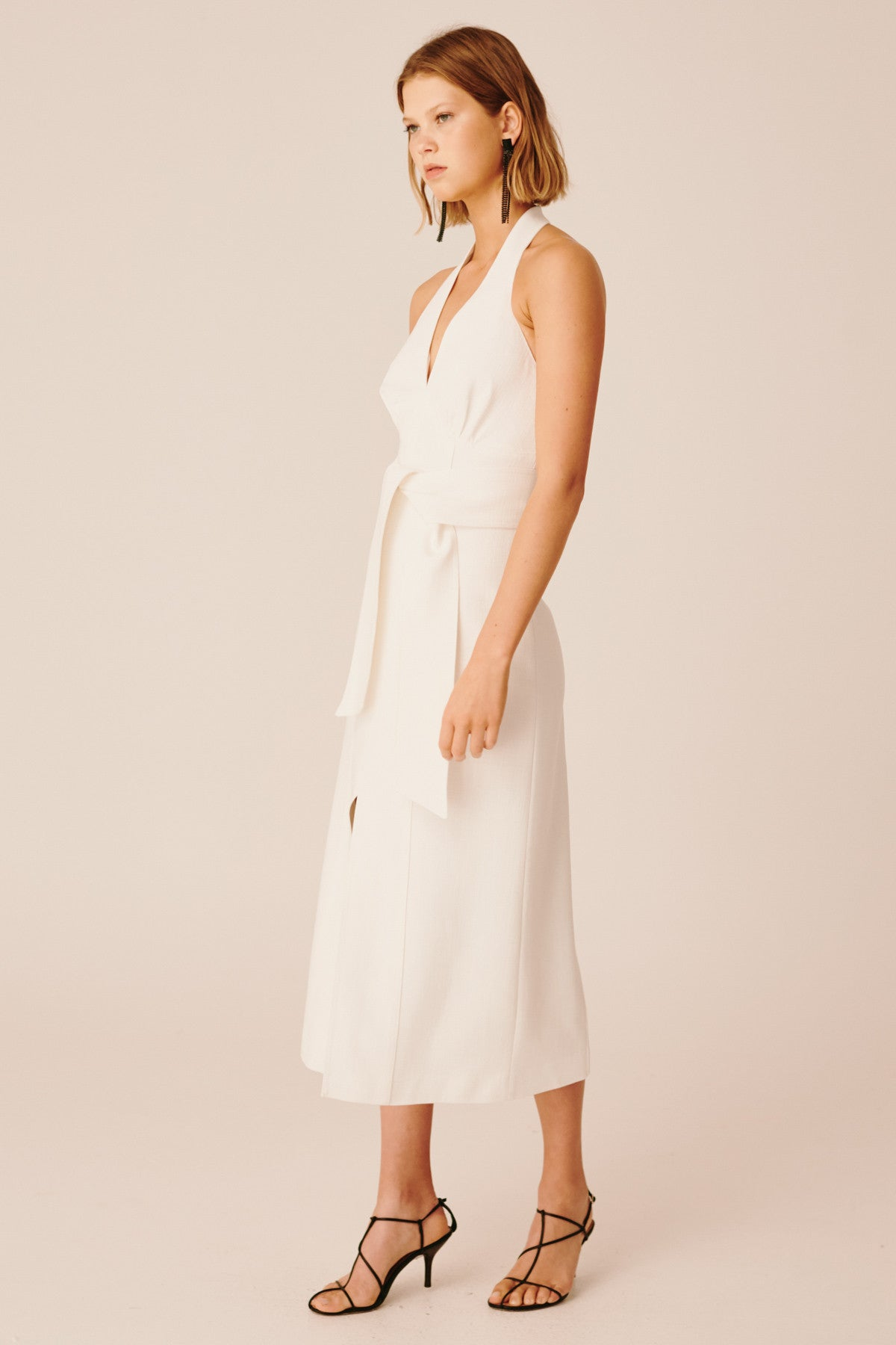 COLLISIONS MIDI DRESS ivory