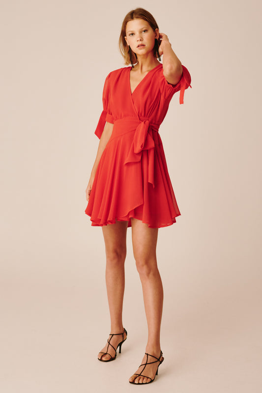 APPARENT SHORT SLEEVE DRESS red