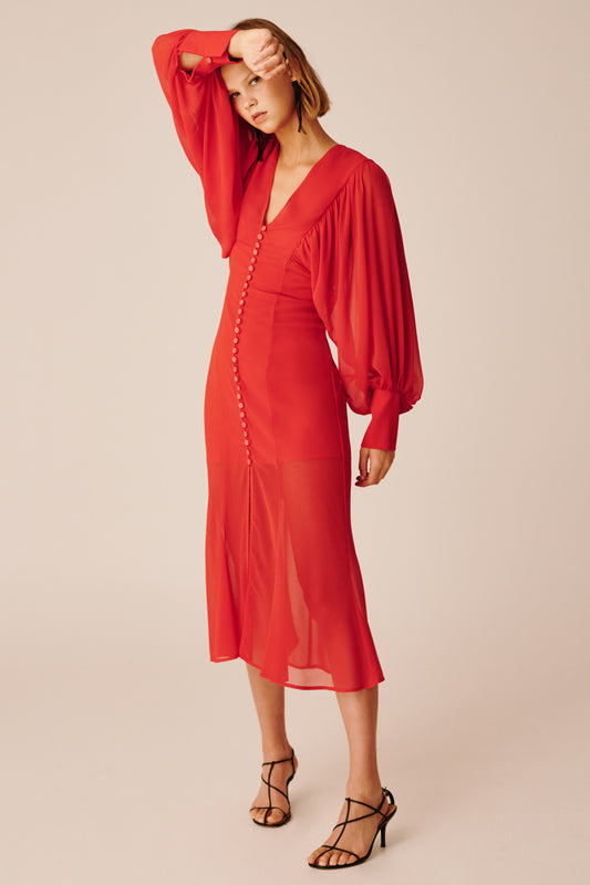 APPARENT LONG SLEEVE DRESS red