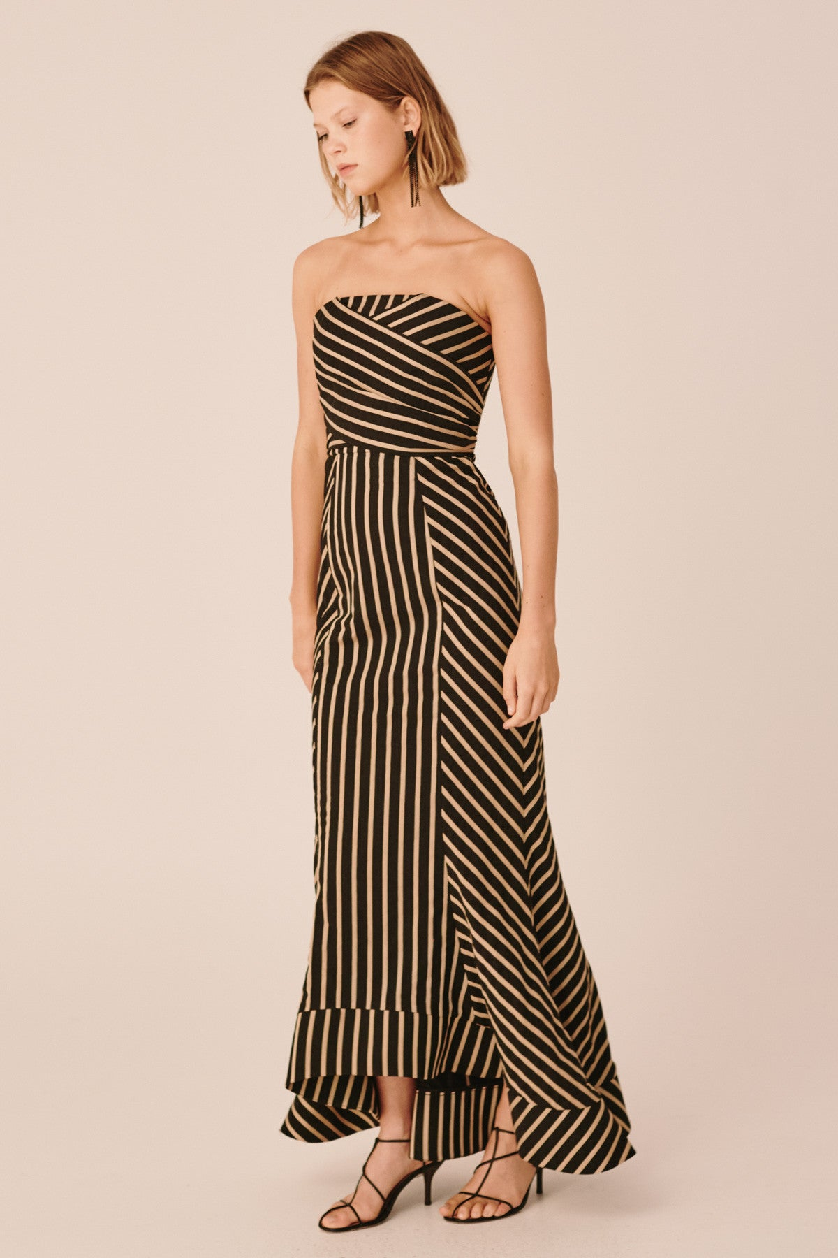 HIGH AS HOPE GOWN black stripe