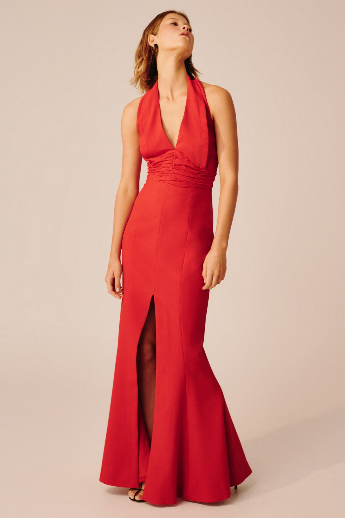 CONSONANT GOWN red