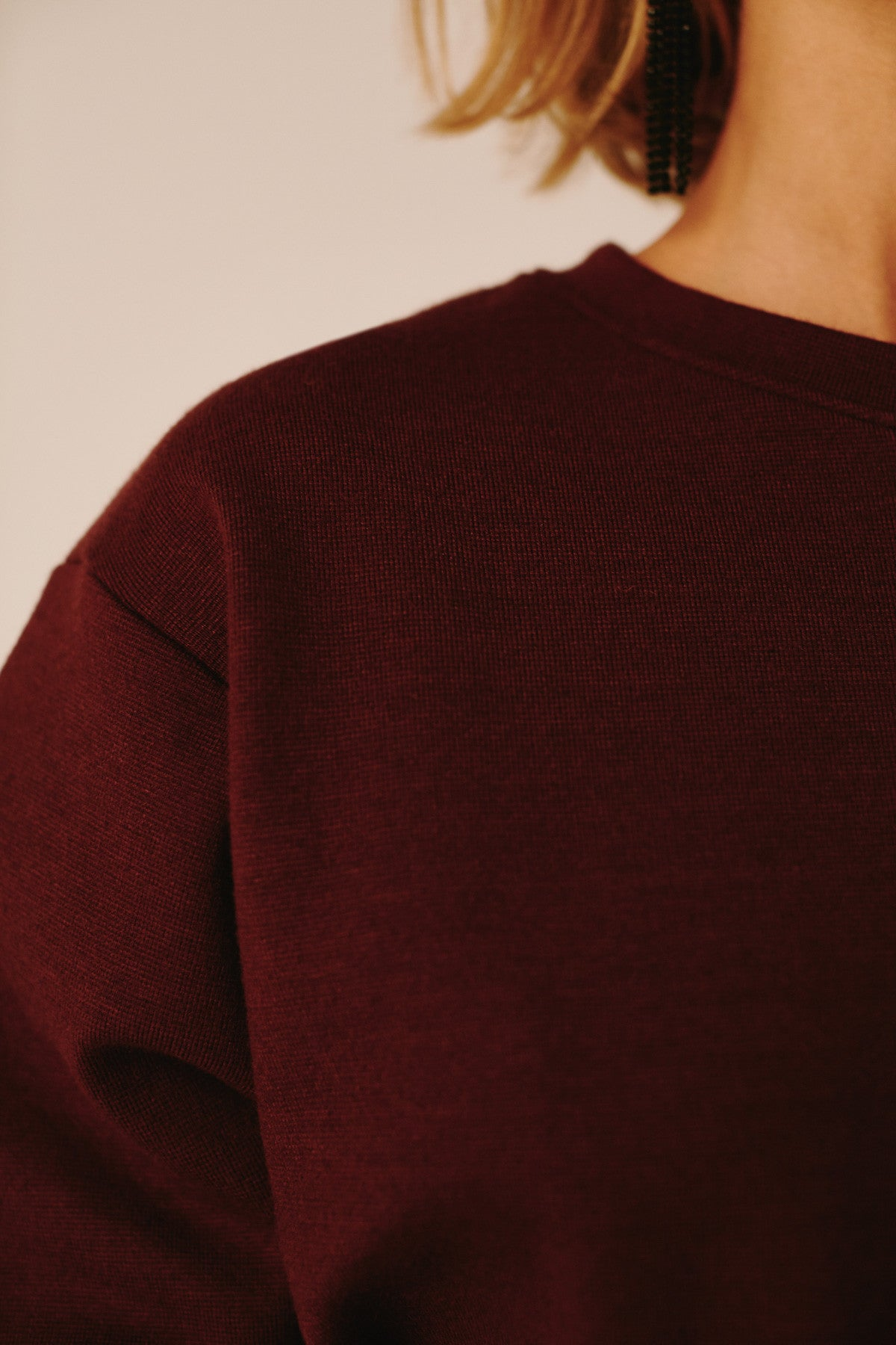 INTRICATE SWEATER mahogany