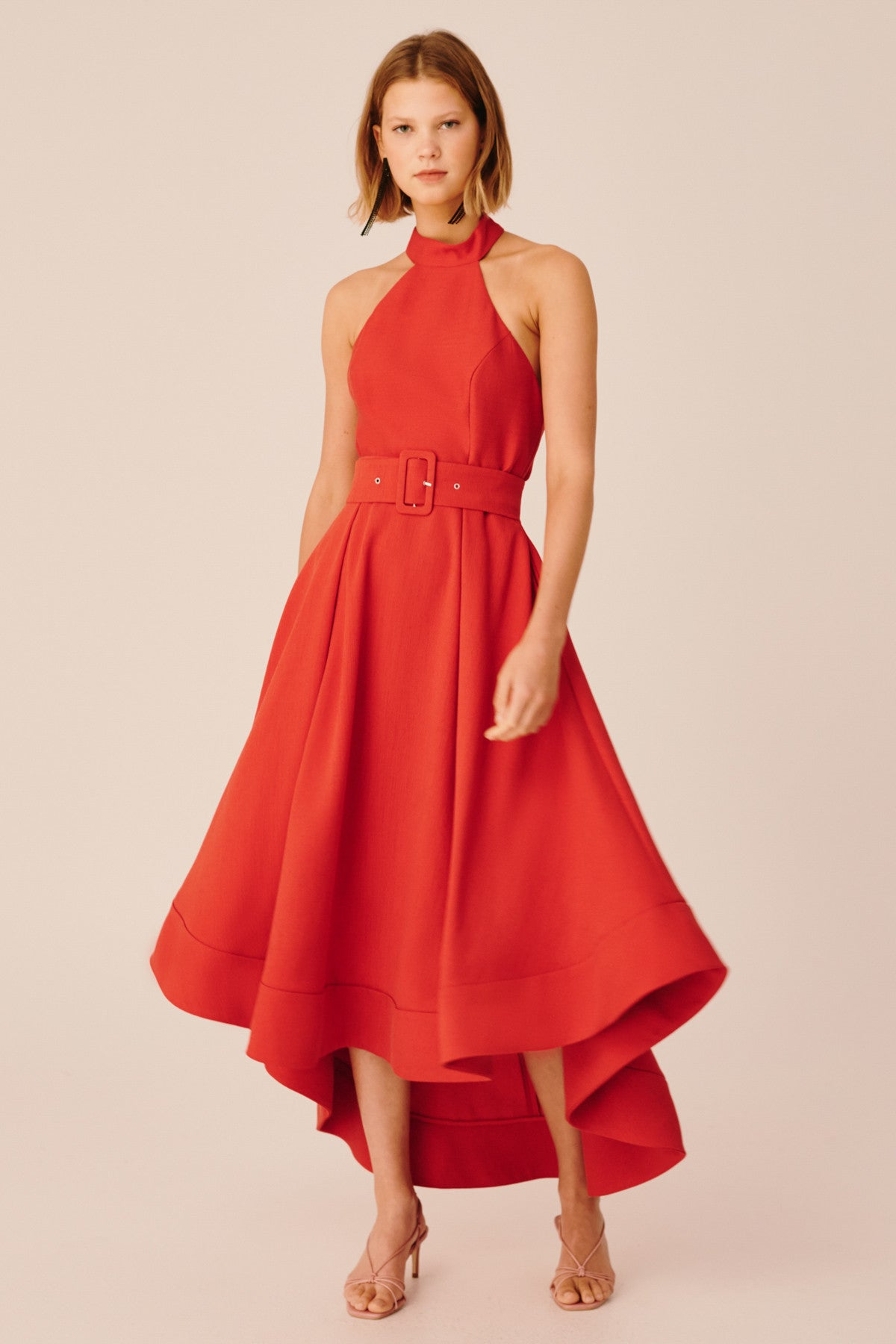 CONFIRMATIVE GOWN red