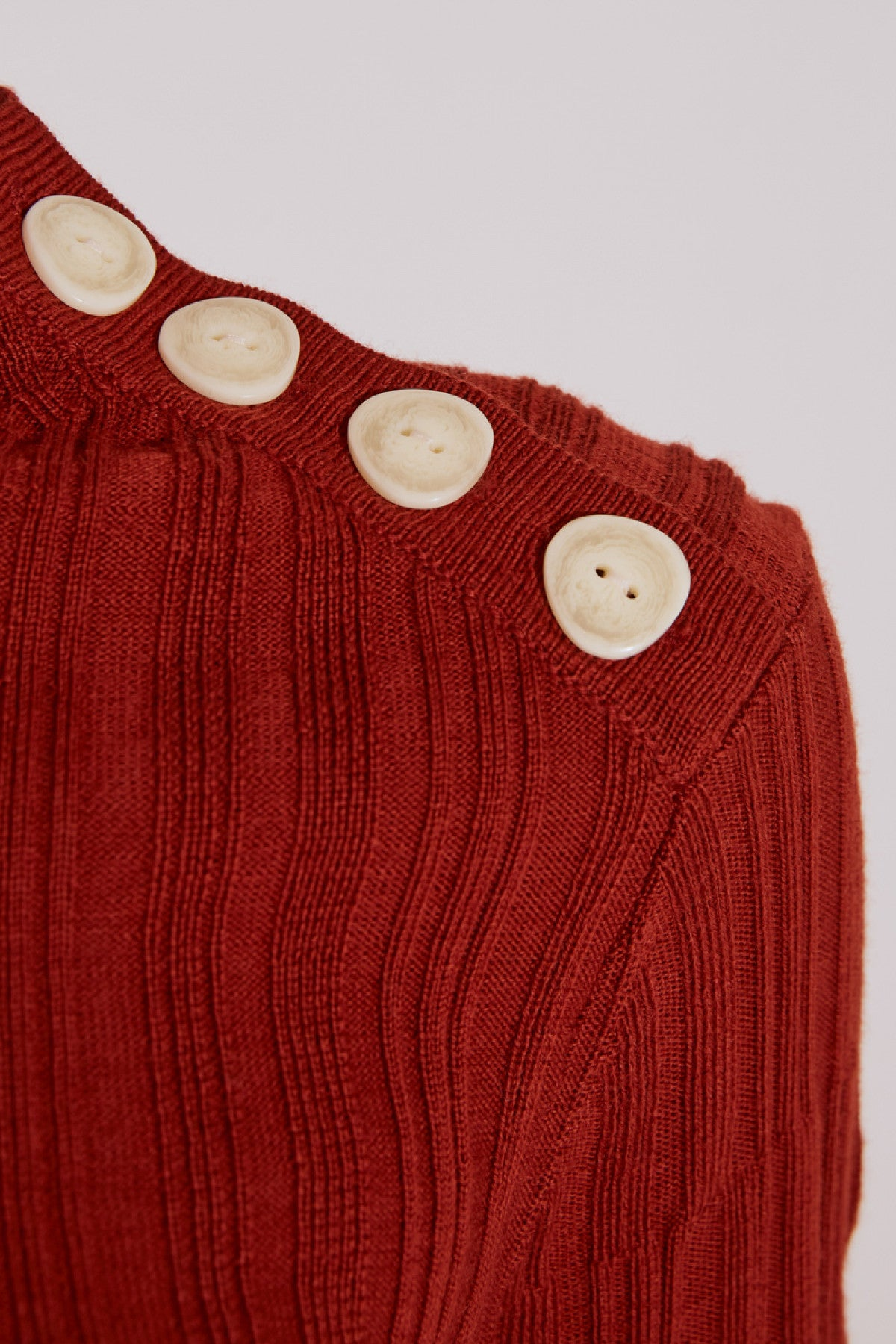 STAGES LONG SLEEVE KNIT TOP rust
