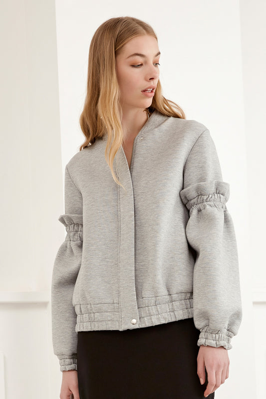 DOUBLE TAKE BOMBER JACKET grey