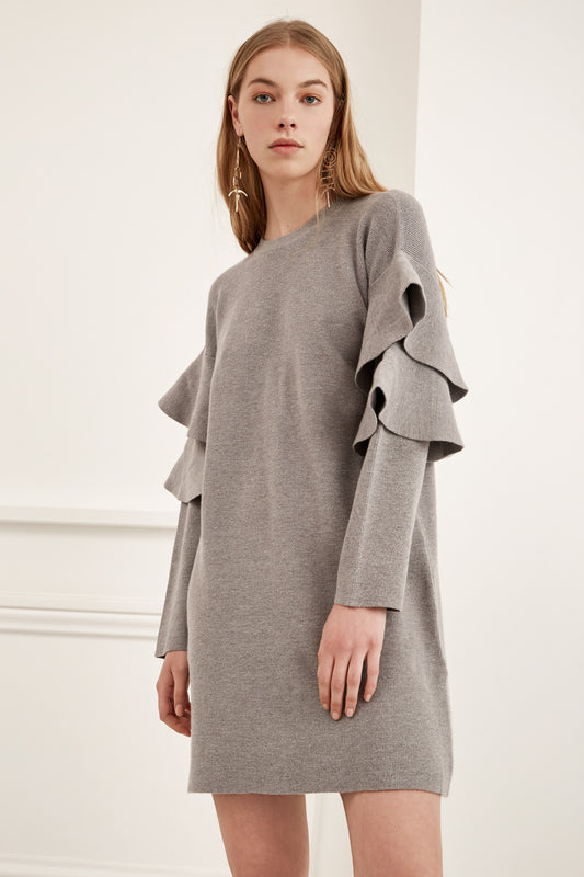 NEVER ENOUGH KNIT DRESS grey