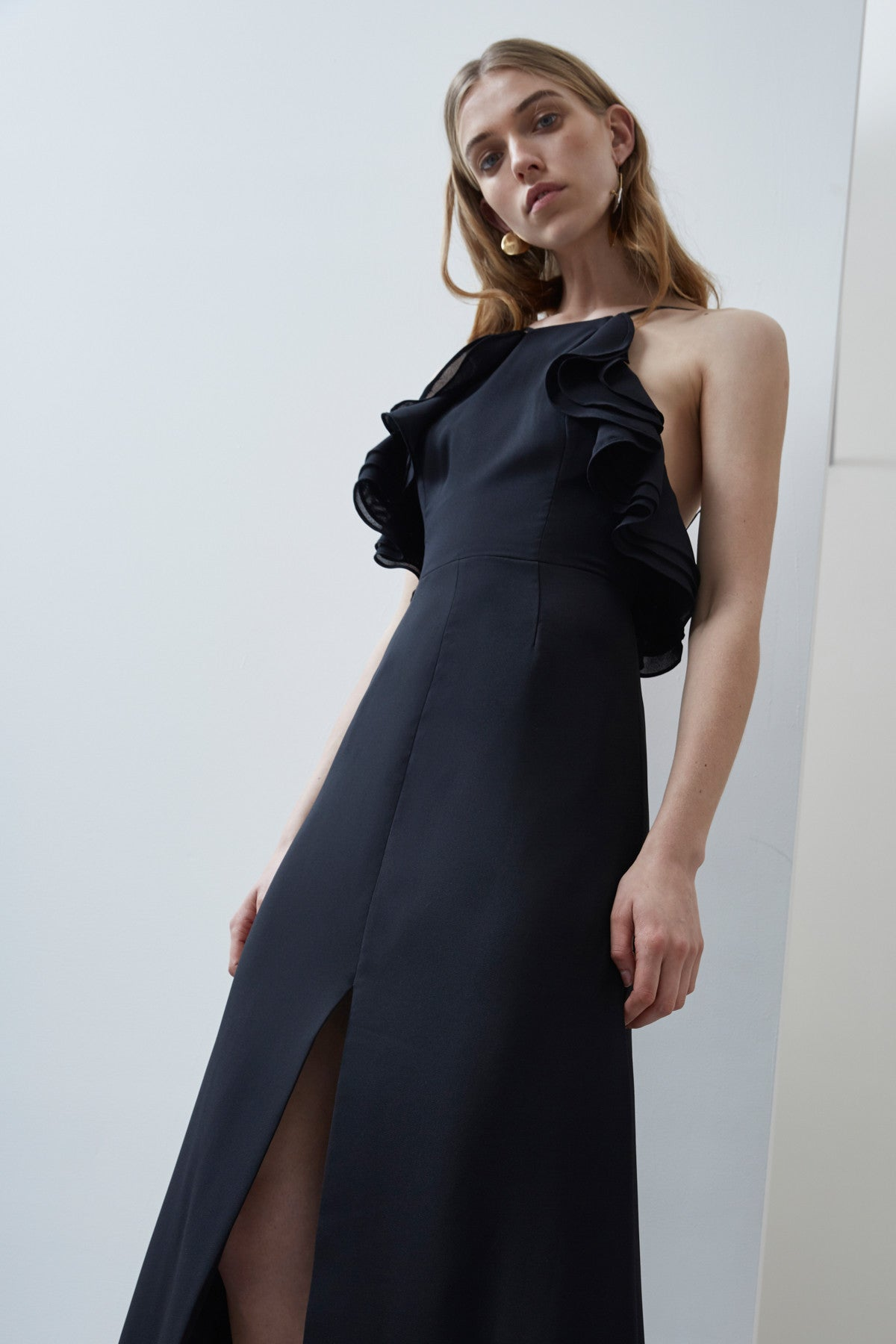 FADING NIGHTS FITTED DRESS black