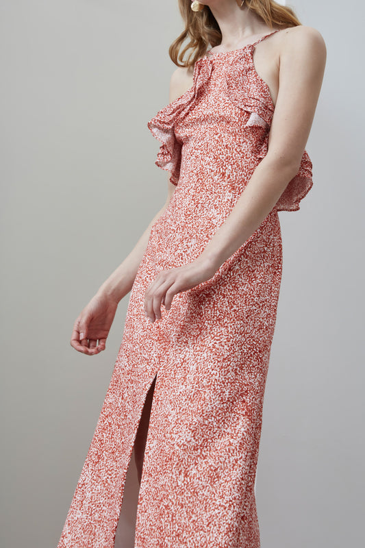 FADING NIGHTS FITTED DRESS terrazzo