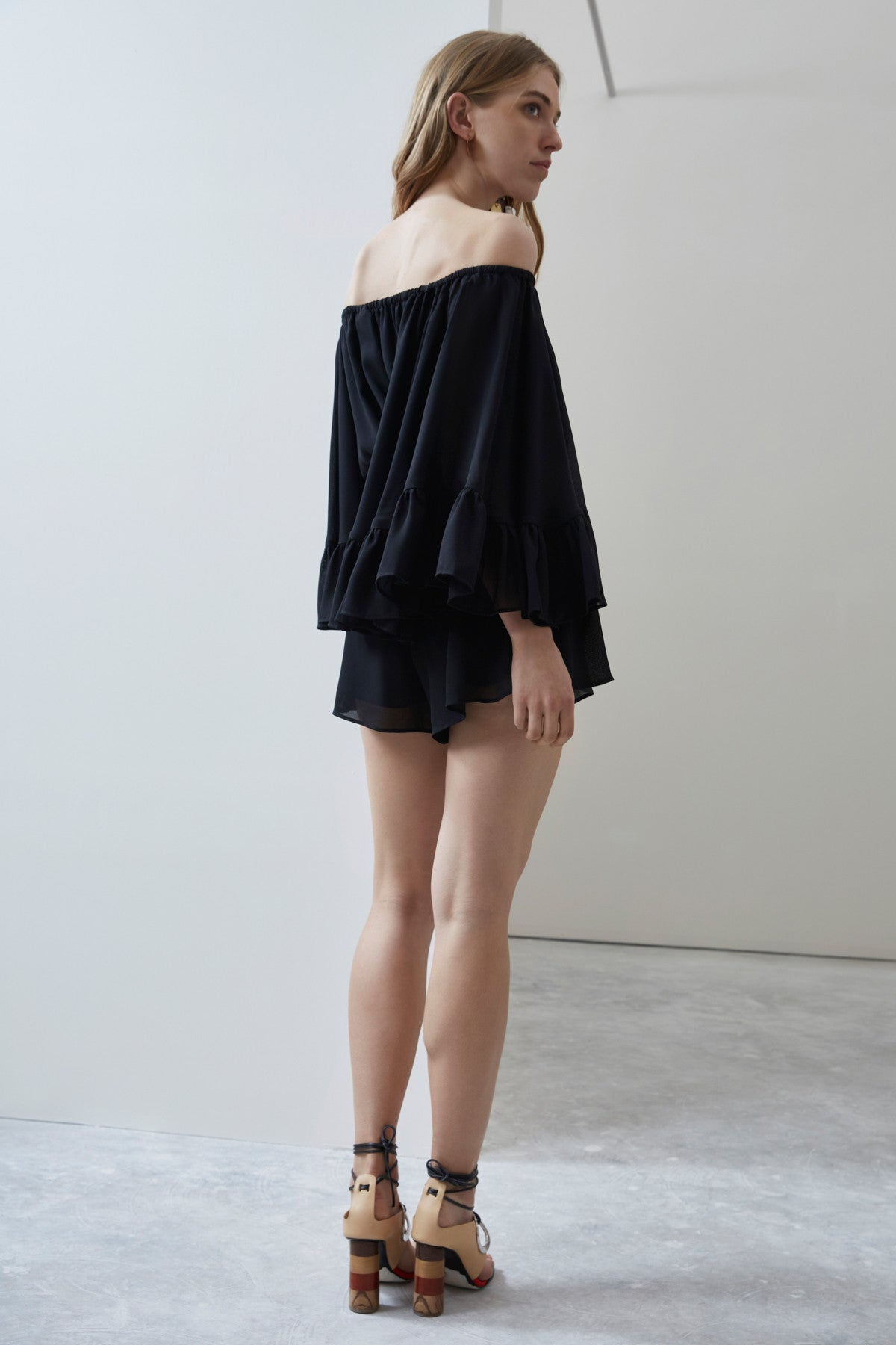 FADING NIGHTS PLAYSUIT black