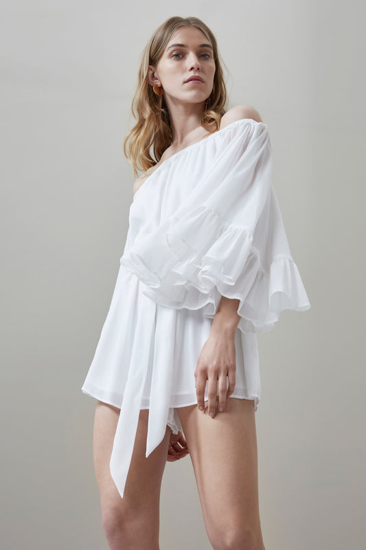 FADING NIGHTS PLAYSUIT ivory