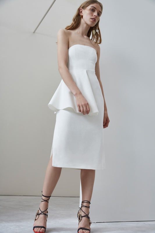 NO RESPONSE BUSTIER DRESS ivory