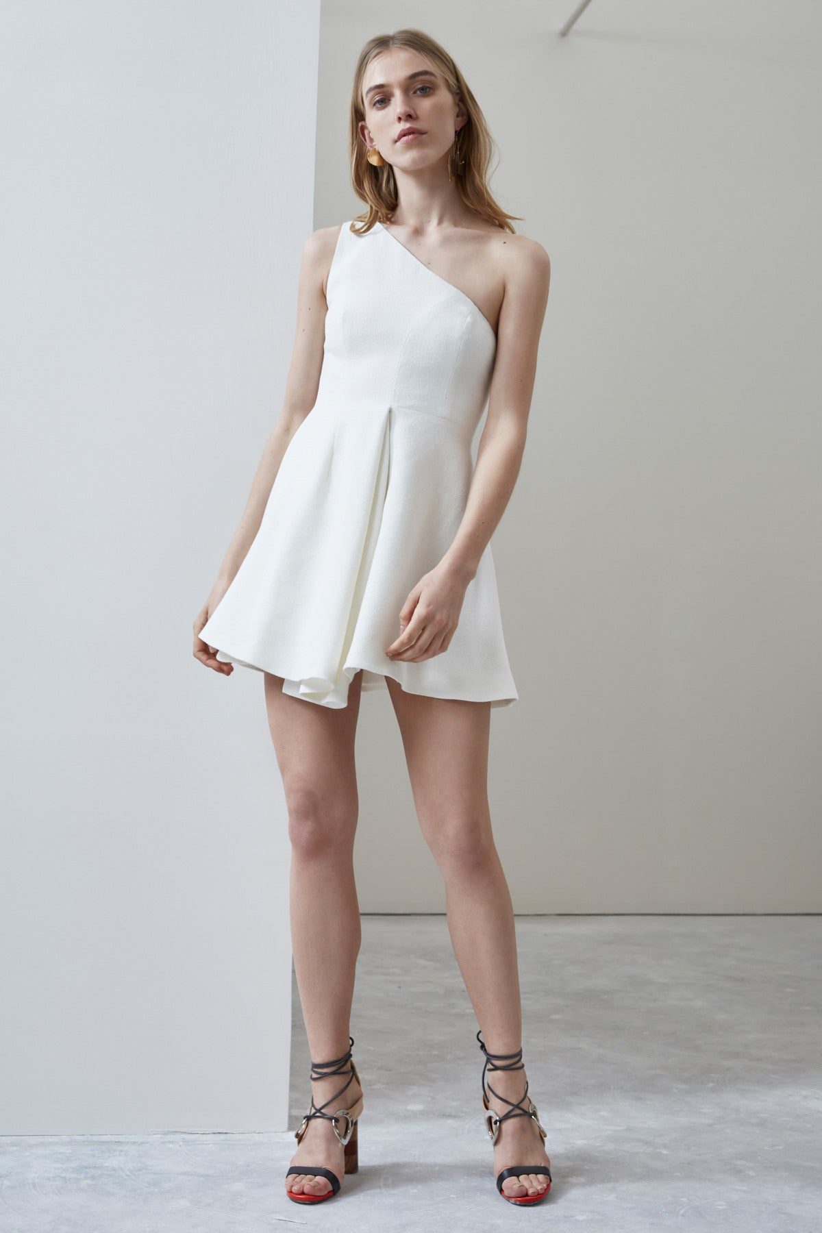 NO RESPONSE MINI DRESS ivory