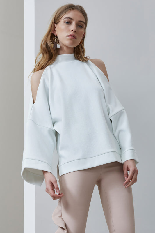 OPEN AIR LONG SLEEVE TOP ivory