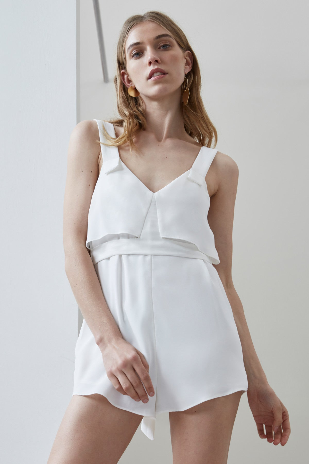 SECOND THOUGHT PLAYSUIT ivory