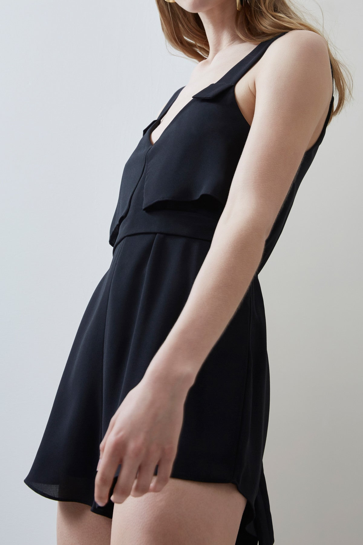 SECOND THOUGHT PLAYSUIT black