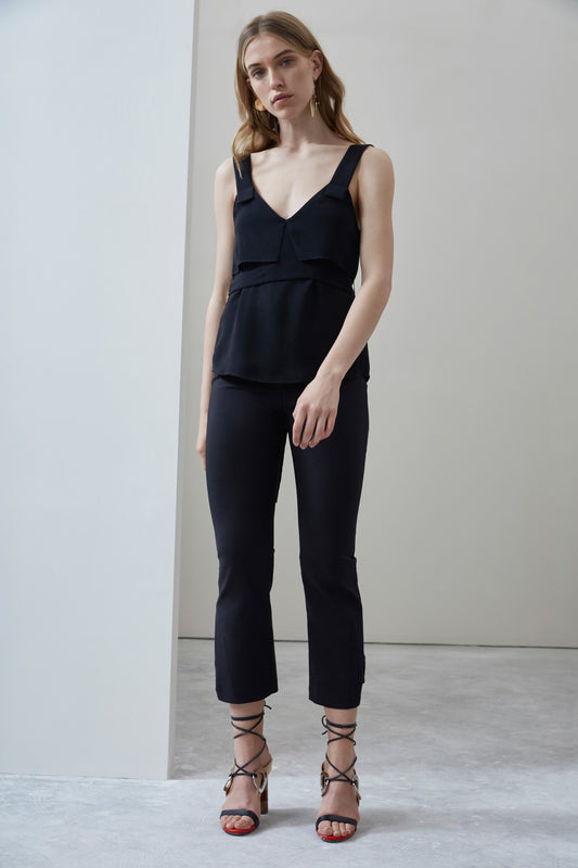 SECOND THOUGHT TOP black