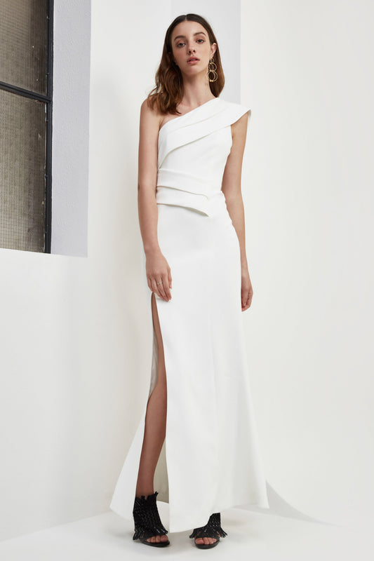 DON'T STOP FULL LENGTH DRESS ivory