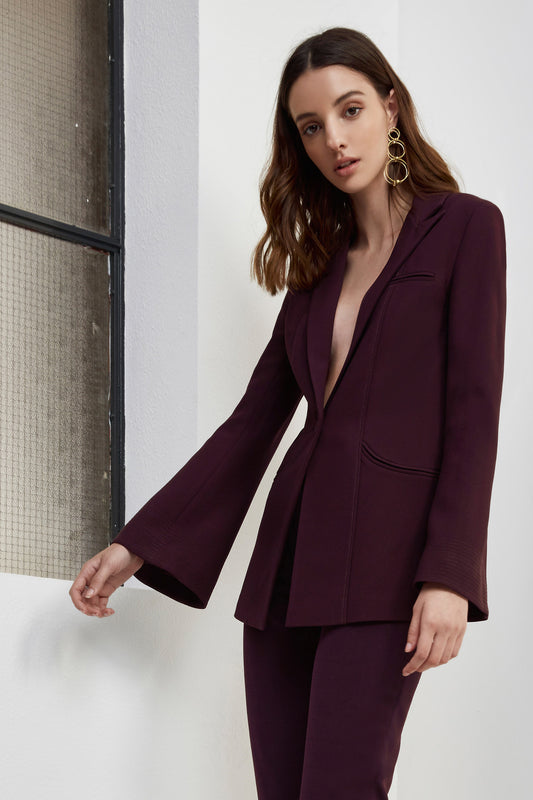 LONG GONE BLAZER aubergine