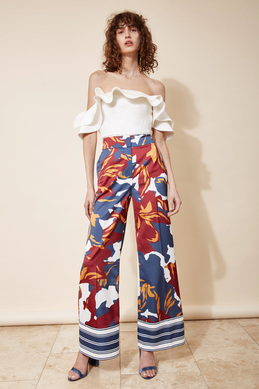 VANISH PANT ivory floral
