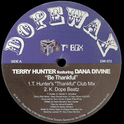 DW-072 Terry Hunter-Be Thankful