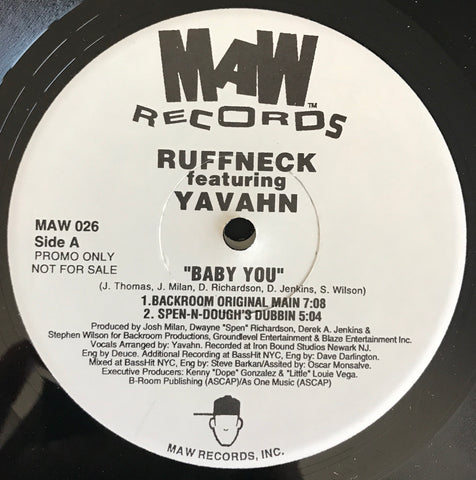 Maw-026 Baby You - Ruffneck Feat. Yavahn (Double Pack Promo)