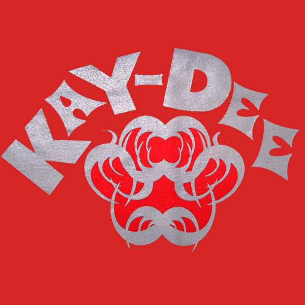 Kay-Dee T-Shirt (Grey On Red)