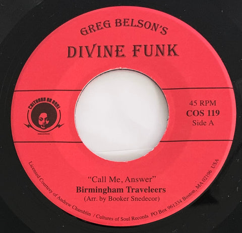 #485  Call Me Answer - Birmingham Travelers / The Little Light Of Mine - Gospel Ambassadors