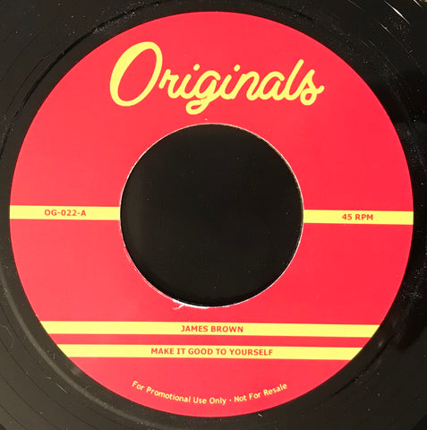 #140 (OG-022) James Brown Make It Good To Yourself/Percee P Lung Collapsing Lyrics