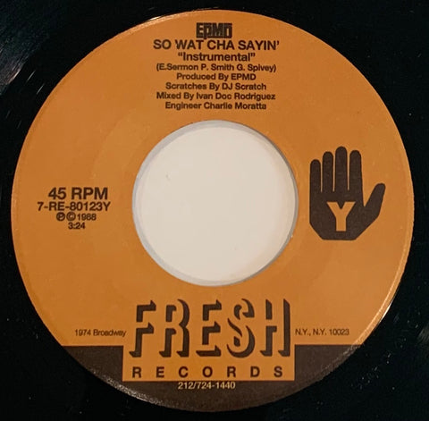 #121 (7-RE-80123X) Epmd - So Wat Cha Sayin' (Main & Inst)