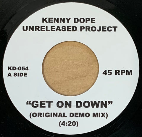 "KD-054 Kenny Dope ""Get On Down/Gunshot Featuring Shaggy"
