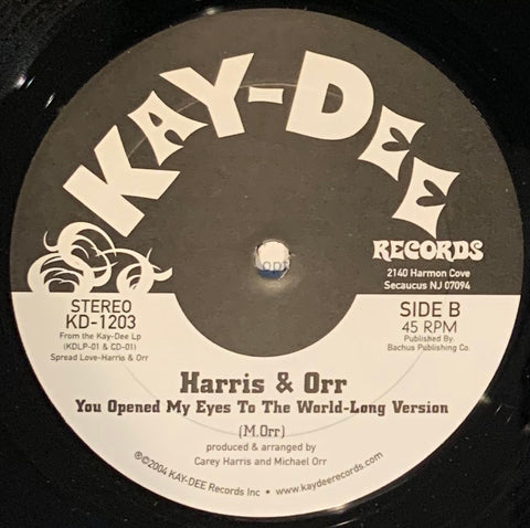 KD-1203 Harris & Orr-Spread Love/You Opened My Eyes (Promo)