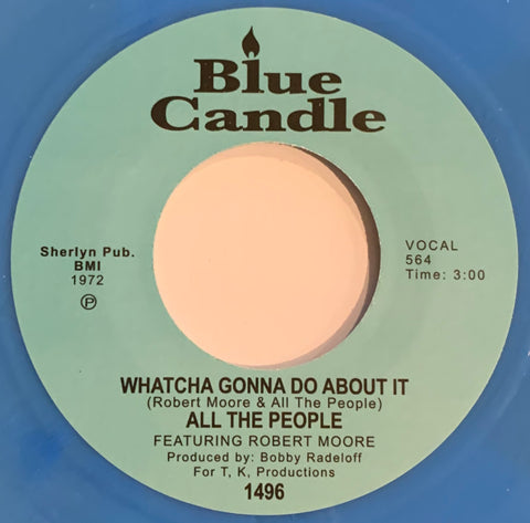 #322 Cramp Your Style / Whatcha Gonna Do About It - All The People (Blue Vinyl)