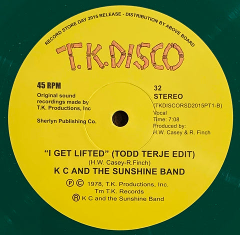 #331 I Get Lifted (Todd Terje Edit) KC and The Sunshine Band (Green Vinyl)