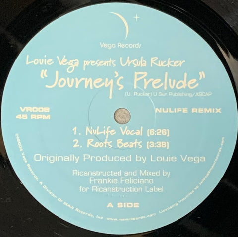 VR - 008 Journey's Prelude Louie Vega Presents Ursula Rucker