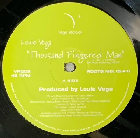 VR - 009 Thousand Finger Man - Louie Vega