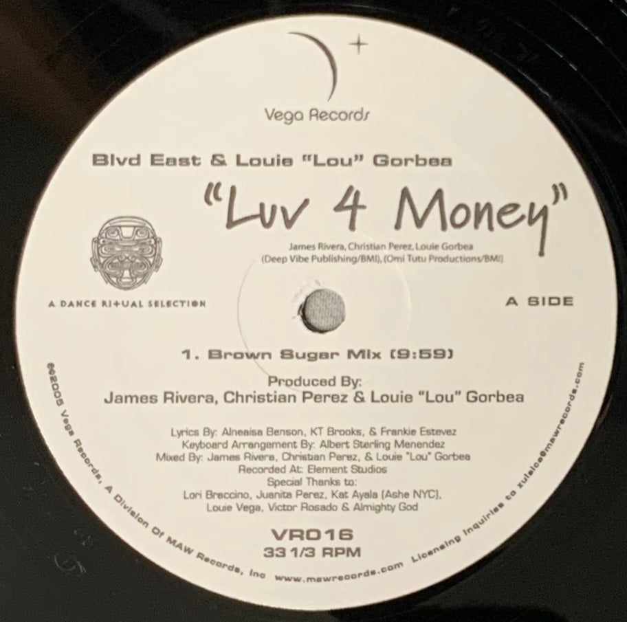 VR - 016 Luv 4 Money Blvd East & Louie Lou Gorbea