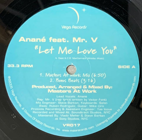 VR - 017 Let Me Love You - Anane Feat Mr. V