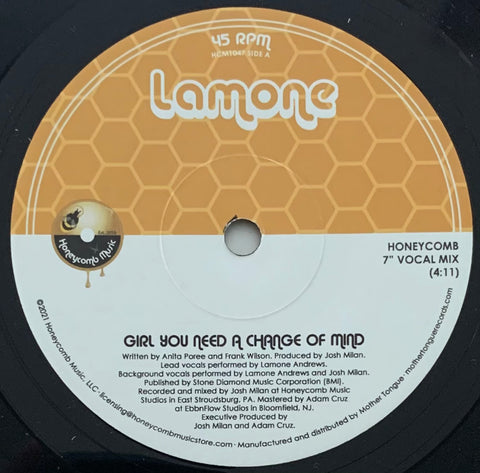 #433 Girl You Need A Change Of Mind / Instrumental - Lamone