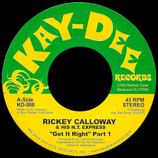 KD-008 Rickey Calloway-Gettin' It Right