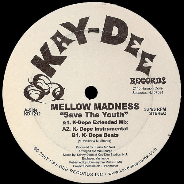 KD-1212 Mellow Madness-Save The Youth