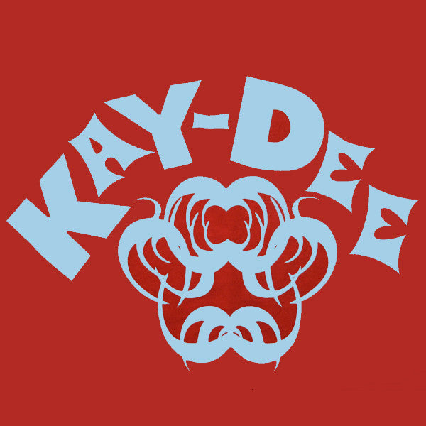 Kay-Dee T-Shirt (LT Blue On Red)