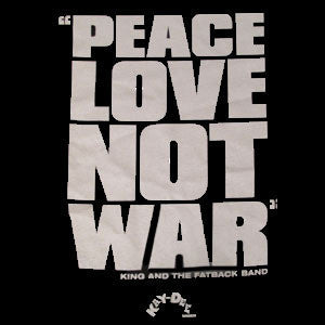 PEACE LOVE NOT WAR T-SHIRT