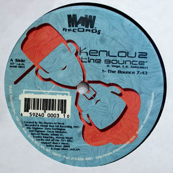 Maw-003 The Bounce/Gimme Groove Kenlou 2 (Re-Issue)