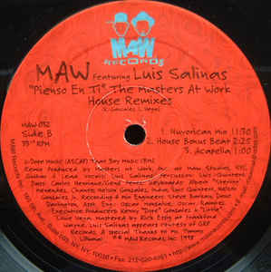 Maw-032 Maw Featuring Lius Salinas (Masters At Work House Mixes)
