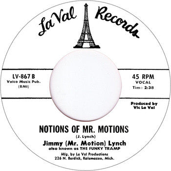 #108 (LV-867) The Broadway / Motions Of Mr. Motions Jimmy (Mr. Motion) Lynch