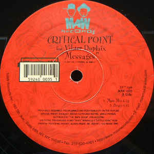 Maw-035 Messages - Critical Point Feat. Vikter Duplaix