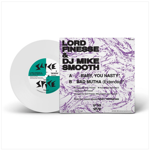 Lord Finesse & DJ Mike Smooth - Baby, You Nasty/Bad Mutha (White Vinyl)