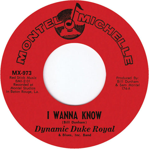 MX-973 I Wanna Know/Let Me Prove My Love - Dynamic Duke Royal